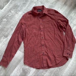 Banana Republic Flannel Rusty Orange Button Down